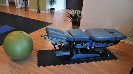 Chiro table at Ravenswood Health